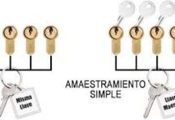 Amaestramiento de bombines con una sola llave